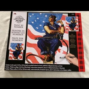 Rare plaid paint by number Rosie the riveter new